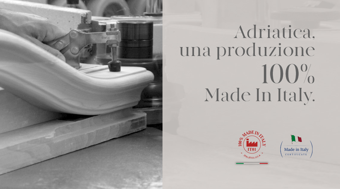 Adriatica, une production 100 % made in italy