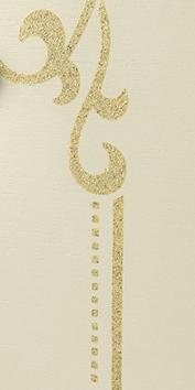 Golden glitter decor