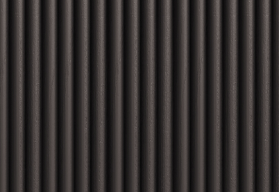 coal-painted ribbed wood